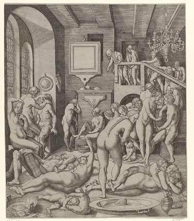 Badhuis met mannen en vrouwen