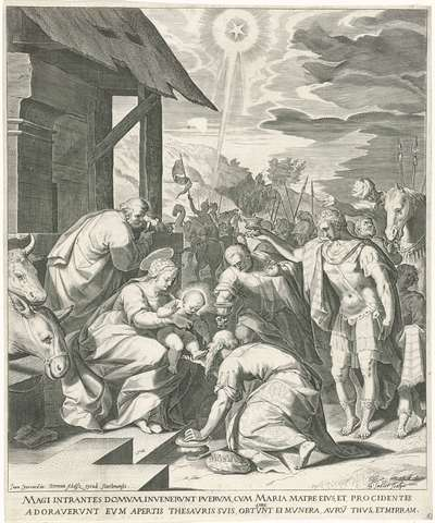 Image from object titled Aanbidding der koningen; Leven van Maria