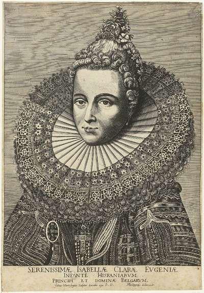 Portret van Isabella van Spanje; Portret van Isabella Clara Eugenia, Infante van Spanje
