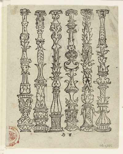 Zes balusters; Latere editie van Ein frembds und wunderbares kunstbüchlin (...)