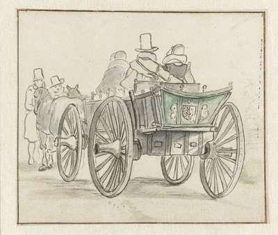 Reiswagen met enkele passagiers