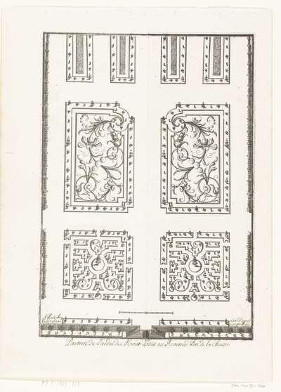 Parterre van de tuin van Mont-Louis; Tuinen met parterres