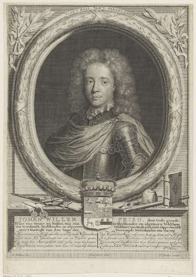 Portret van Johan Willem Friso, prins van Oranje-Nassau