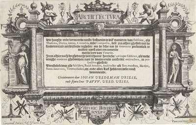 Titelpagina voor: Hans en Paul Vredeman de Vries, Architectura, 1606-7; Architectura