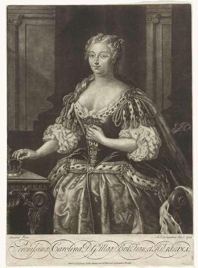 Portret van Caroline van Anspach, koningin van Groot-Brittannië