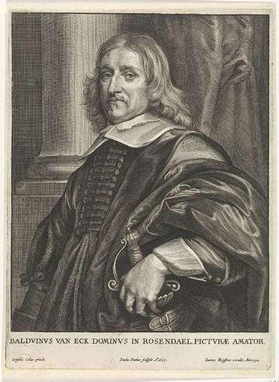 Portret van Baldwin van Eck