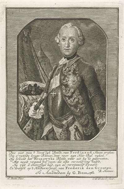 Portret van Ferdinand, hertog van Brunswijk-Wolfenbüttel