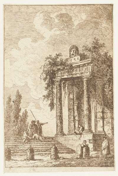 Trap met de vier grenspalen; Les Soireés de Rome; Romeinse gezichten`