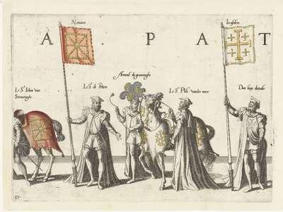 Deel van de optocht, nr. 17; Begrafenisoptocht van keizer Karel V, 1558