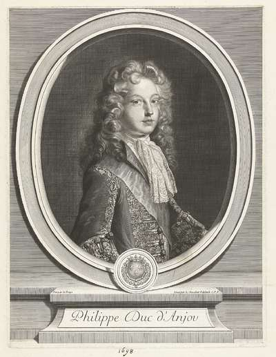 Portret van Filips V van Spanje; Philippe Duc d'Anjou