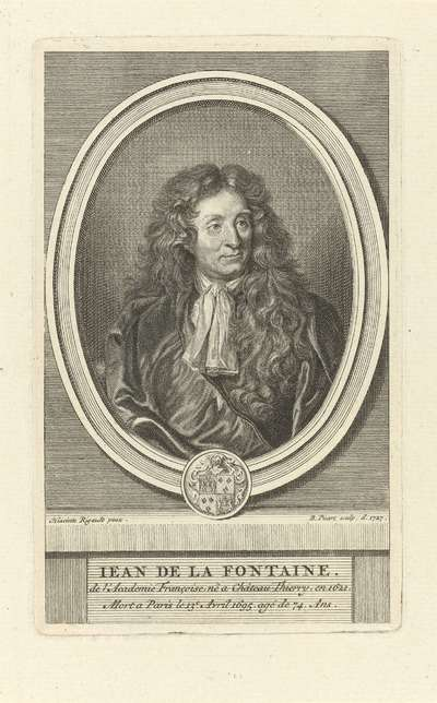 Image from object titled Portret van Jean de La Fontaine