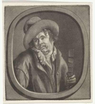 Man met een glas in de hand