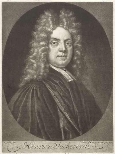 Portret van de theoloog Henricus Sacheverell