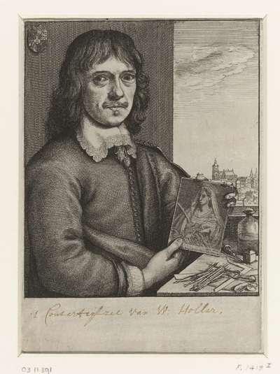 Zelfportret van Wenzel Hollar; Portretten van kunstenaars; Image de divers hommes desprit sublime