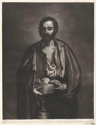 Bedelaarsfilosoof met houten nap en wijnfles; Filosofen naar Spaanse voorbeelden