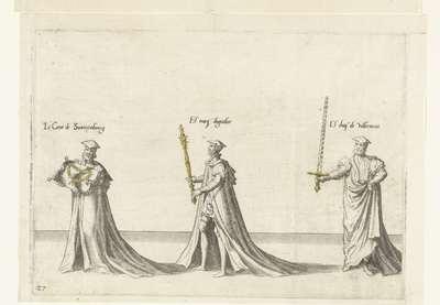 Deel van de optocht, nr. 27; Begrafenisoptocht van keizer Karel V, 1558