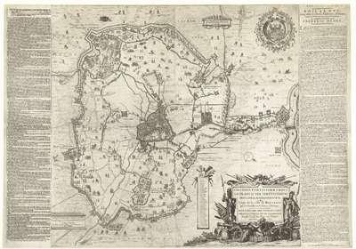 Grote kaart van het beleg van Den Bosch door Frederik Hendrik, 1629; Obsidio fortissimae urbis Silvae-ducis per serenissimum principem aurasionensem; Siege de la ville de Bois-Leduc par son Excellence le Prince d'Orange;...