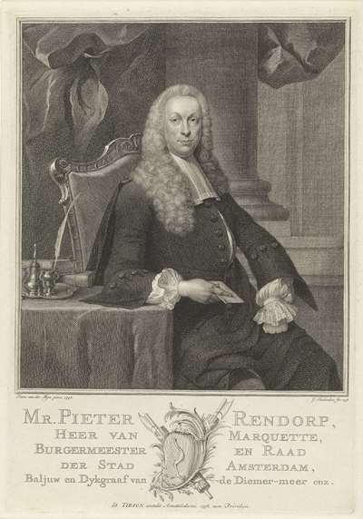 Portret van Pieter Rendorp; Mr. Pieter Rendorp