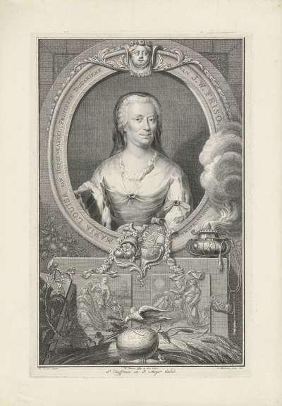 Portret van Maria Louise, prinses van Oranje-Nassau