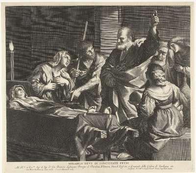 De opwekking van Tabita door de apostel Petrus