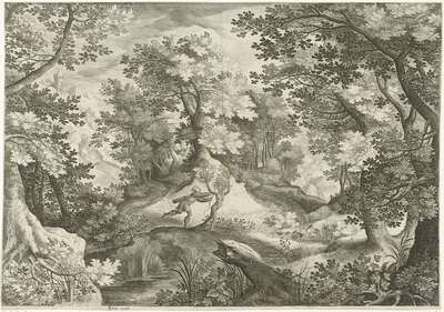 Landschap met Apollo en Daphne