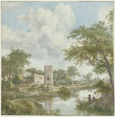 Landschap met kasteelruïne