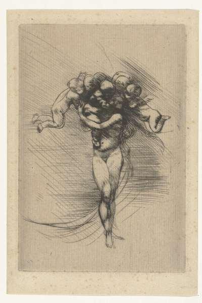 Naakte vrouw of Venus omcirkeld door putti; Lente; Le printemps