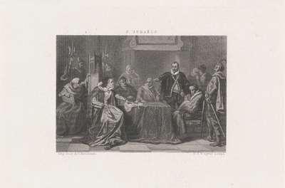 Willem van Oranje in de Raad bij landvoogdes Margaretha van Parma