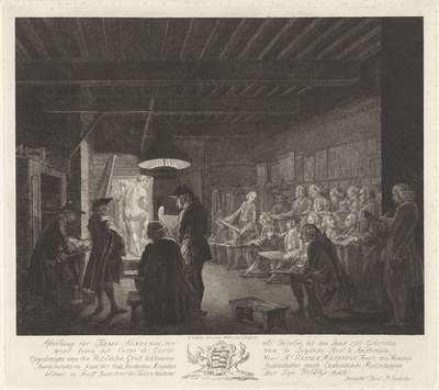Stadstekenacademie te Amsterdam, 1764-1767; Afbeelding der Teeken Academie, zoo als Dezelve tot den Jaare 1767 Gehouden werd boven het Corps de Garde van de Leydsche Poort te Amsterdam