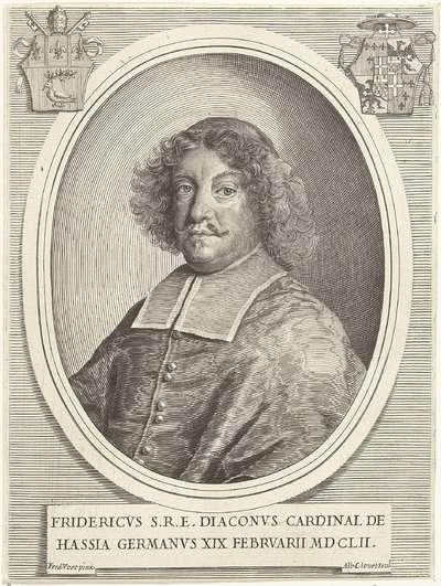Portret van kardinaal Friedrich von Hessen-Darmstadt; Effigies Cardinalium nunc viventium