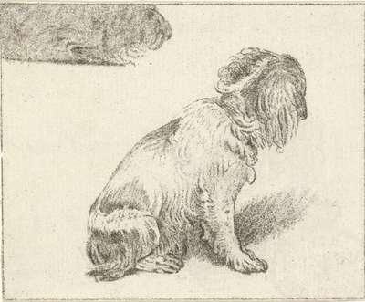 Zittend hondje