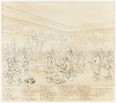 Identificatie van de portretten op het schilderij De Beeldenzaal van de Maatschappij Felix Meritis te Amsterdam