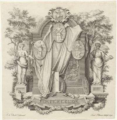 Epitaaf versierd met medaillons; Tafereelen