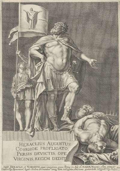 Keizer Heraclius en koning Chosroës II