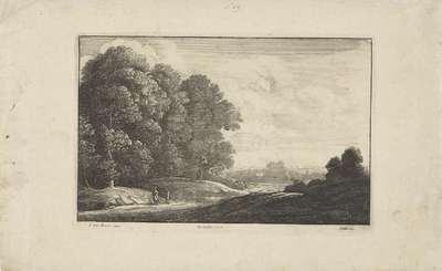 Landschap met twee wandelaars; Landschappen