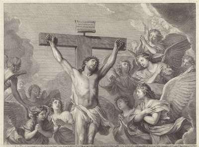 Christus aan het kruis; Chritianissimo Regi Dignum Mundo (...)
