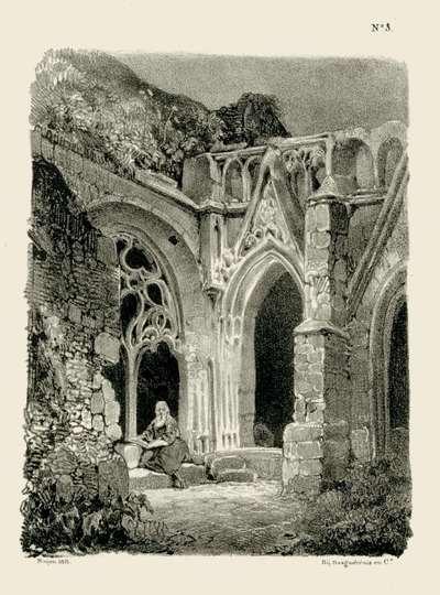 Monnik in een kloosterhof; Landschappen