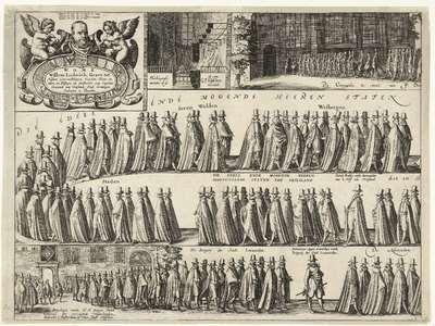 Begrafenis van Willem Lodewijk, 1620 (blad 1); Begrafenis van Willem Lodewijk, graaf van Nassau, in de Grote Kerk te Leeuwarden, 1620