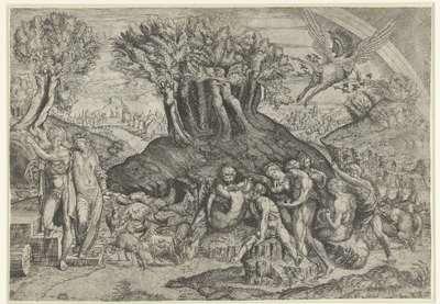 Berg Parnassus gewijd aan Apollo en muzen