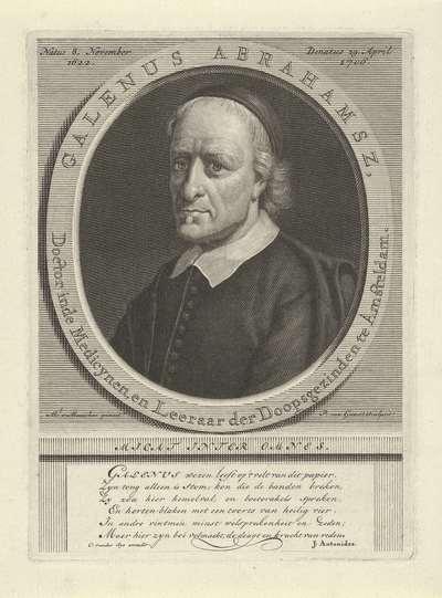 Portret van Galenus Abrahamsz. de Haan