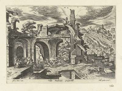 Gezicht op de Villa Hadriana; Villae Hadriani prospoctus; Ruinarum varii prospectus