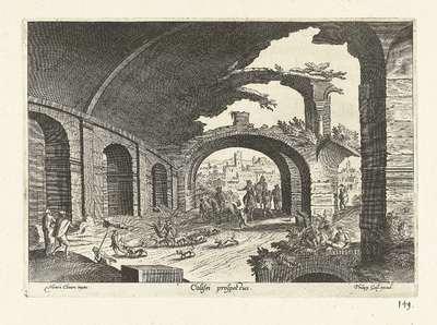 Ruïne van het Colosseum; Colisei prospectus; Ruinarum varii prospectus