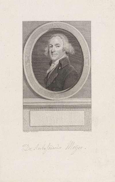 Portret van Casparus Meijer