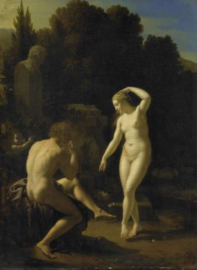 Image from object titled A Nymph Dancing to a Shepherd's Flute