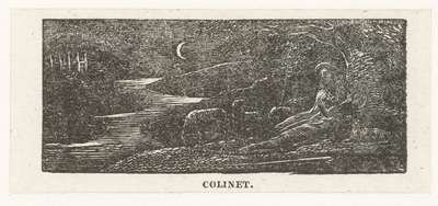 Colinet rust tijdens de nacht; Colinet resting bij night; Illustrations of imitation of Eclogue I
