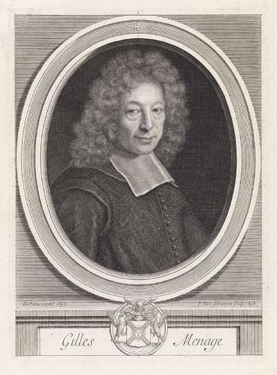 Portret van Gilles Ménage