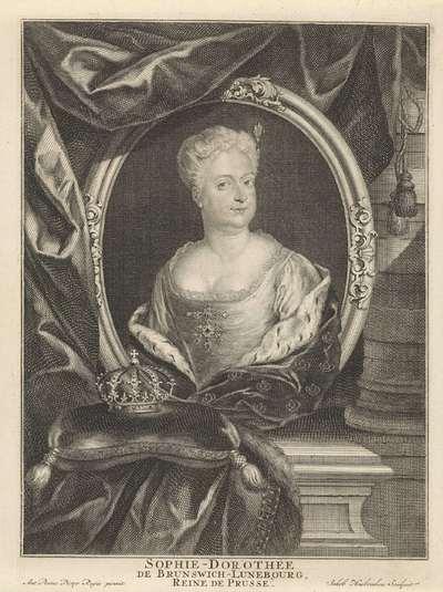 Portret van Sophia Dorothea van Hannover