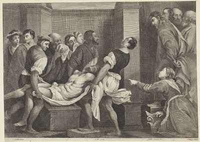 Opwekking van Lazarus; Theatrum Pictorium