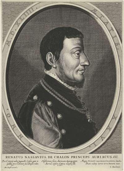 Portret van René de Châlon, prins van Oranje