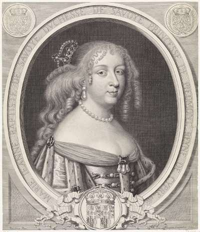 Portret van Maria Johanna Baptiste, hertogin van Savoye